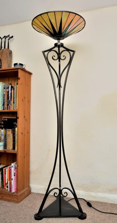 Art Deco, Standing Lamp, Lighting, Light, Bespoke, Hand Forged, Handmade, Interior Design, Blacksmith,