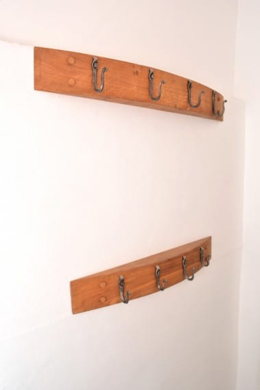Forged Hooks, Blacksmith, Coat Rack,Style, Interior Design, Oak
