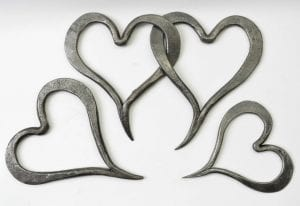 Hearts, Always and Forever, Blacksmith , Love, Wedding, Birthday, Christmas, Valentines Day, Mother's Day, Forged