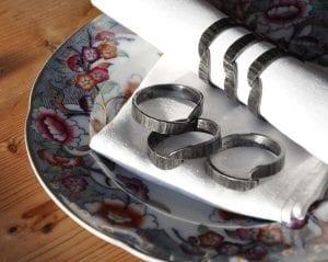 Napkin, Napkin Rings, Luxury, Table, Design, Blacksmith, Swann Forge, Wrought Iron, Art, Decor, Metal, Forged, Iron, Interior Design