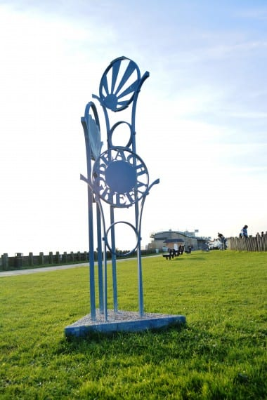 public art, lancing beach green,