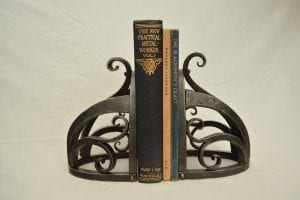 Hand Forged Bookends, Kyle Swann, Swann Forge, Blacksmith