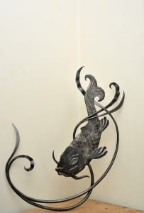 Wedding, Present, Bespoke, Hand Forged, Handmade, Interior Design, Blacksmith, Common Carp, Fish,