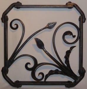 Decorative Panel, Scroll, Blacksmith, Swann Forge, Art, Wall Panel