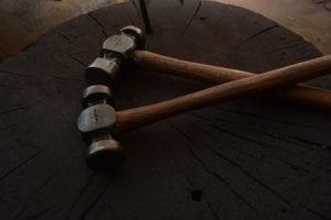 Hand forged hammers, blacksmith, Kyle Swann,