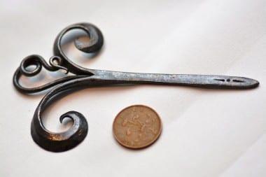 Hand Forged, bespoke hair pin, blacksmith Kyle Swann