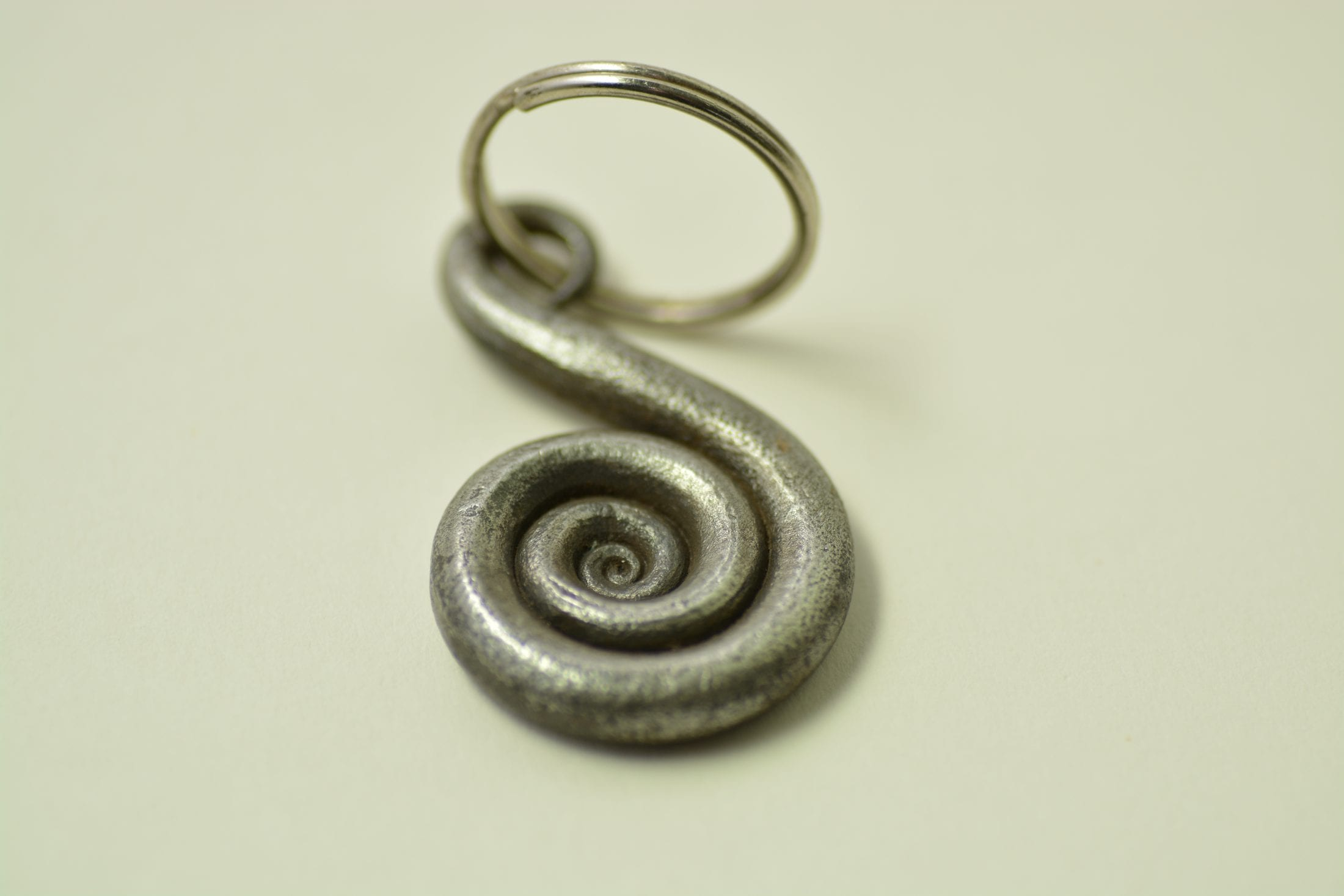 Hand forged keyring, scroll, spriral, unusal gifts, stocking fillers, gifts for him, gifts for her, stylish keyring