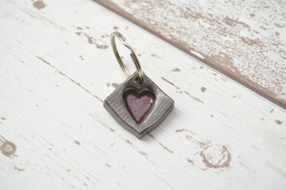 Heart, Red, Love, Unique, Blacksmith, Swann Forge, Art, Key, Ring