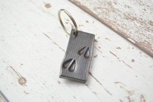 Deer, Track. Print, Love, Blacksmith, Swann Forge, Unique, Key, Ring
