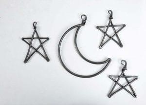 Star, Stars, Moon, Blacksmith, Swann Forge, Wrought Iron, Art, Decor, Metal, Forged, Iron, Interior Design