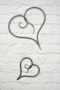 Heart, Metal Heart, Wall Hanging Heart, Love Heart, Bespoke, Artisan, Luxury, Table, Design, Blacksmith, Swann Forge, Wrought Iron, Art, Decor, Metal, Forged, Iron, Interior Design, Scroll Heart