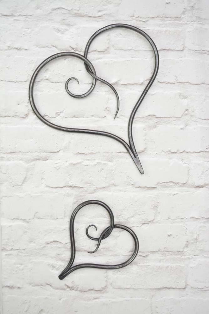 Heart, Metal Heart, Wall Hanging Heart, Love Heart, Bespoke, Artisan, Luxury, Table, Design, Blacksmith, Swann Forge, Wrought Iron, Art, Decor, Metal, Forged, Iron, Interior Design