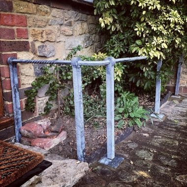Rail, Swann Forge, West Sussex, Galvanised, Wrought Iron, Blacksmith, Twist