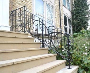 Putney, Swann Forge, Railing, Handrail, Style, Design, Wrought Iron, Blacksmith, Artist Blacksmith, Butterfly, Snail
