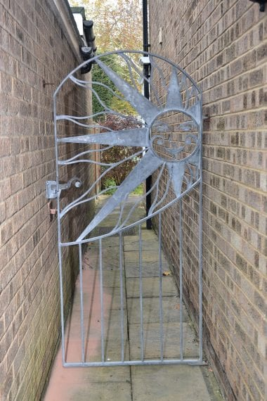 Sun Gate, Galvanised, Sun, Swann Forge, Wrought Iron, Blacksmith,