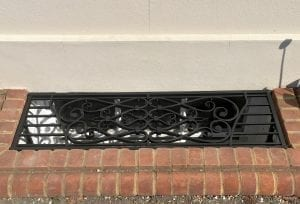 Lightwell Cover, Traditional, Scroll, Georgian, Rectory, Swann Forge, Blacksmith