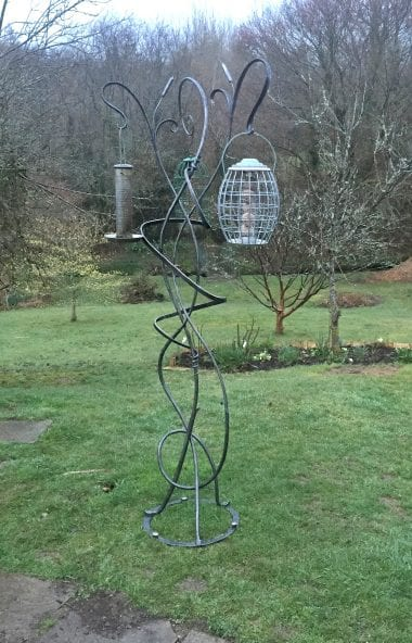 Bird Feeder, Hand Forged, Bespoke, Landscape and Design, Garden Art, Blacksmith, Kyle Swann, Contemporary, Form