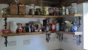 Country Kitchen, Bespoke Kitchen, Luxury Homes, Oak Kitchen, Custom Kitchen, Ironwork, Wrought Iron, Wrought Iron Bracket, Shelf Unit, Wall Bracket
